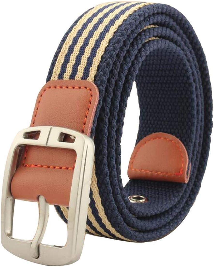 Irypulse Hombres Mujeres Cinturón Trenzado de Lona Cuero de PU Tela para Hebilla clásica de aleación de zinc del vintage con Cinturones de Unisex Adecuado para el ocio Formal Negocios: Amazon.es: Ropa