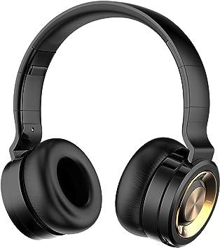 Funwaretech G4 Auriculares Inalámbricos con Micrófono,Cascos Bluetooth Diadema,Auriculares Inalámbricos de Diadema Cerrados,20hrs Reproducción de Música,Hi-Fi Sonido Estéreo para TV,PC,Móviles(Negro): Amazon.es: Electrónica