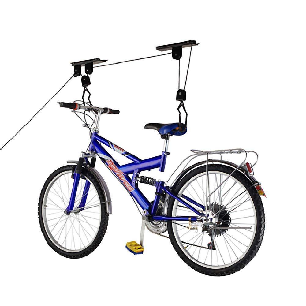 PrimeMatik - Soporte para Colgar Bicicletas del Techo Mediante poleas y Cuerdas PrimeMatik.com