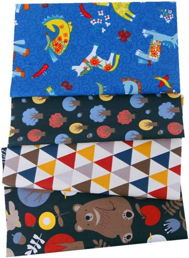 5pcs #6 Nicole Knupfer 50 x 50cm Style Japonais Textile Tissu Coton Carr/és DIY Patchwork V/êtements Sewing Artisanat