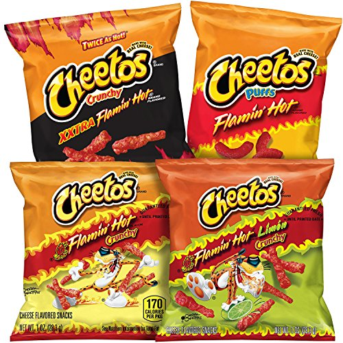 Cheetos Flamin' Hot Mix Cheese Snacks, Variety Pack (Pack of 40)