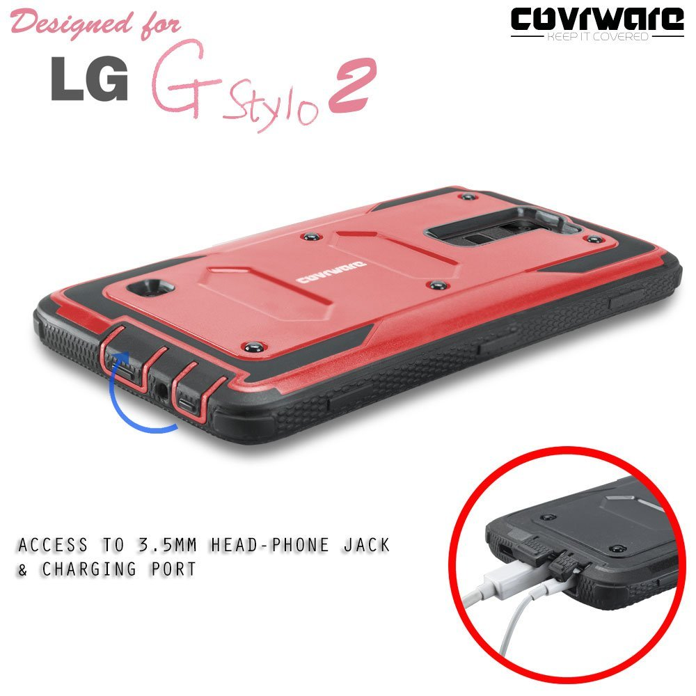 newest 89b67 4c303 Amazon.com: COVRWARE: LG Stylo 2/ Stylo 2 Plus/ Stylo 2 V