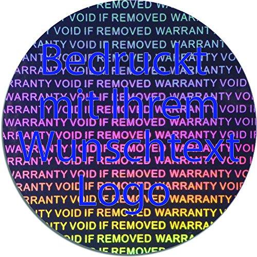 EtikettenWorld BV, EW-H-3000-SI-tb-700, 700 700 700 Stück Hologrammaufkleber, 2D, 40mm rund silberfarbige Metallfolie, bedruckt in blau mit Ihrem Wunschtext Logo, Hologramm Etiketten, selbstklebend, Hologramm Aufkleber, Sicherheitssiegel, Garantiesiegel, Gar cf0822