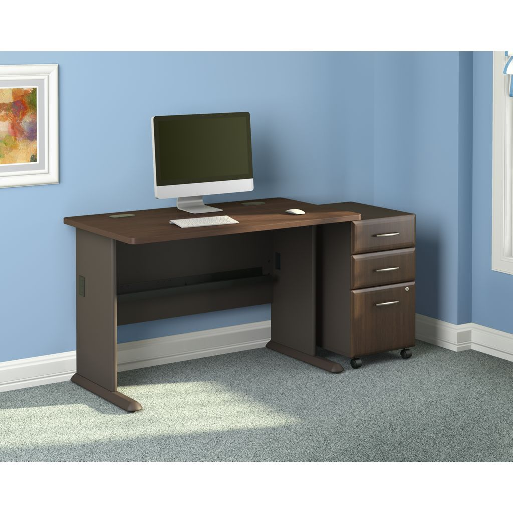 48 inch desk with 3 drawer file and task chair