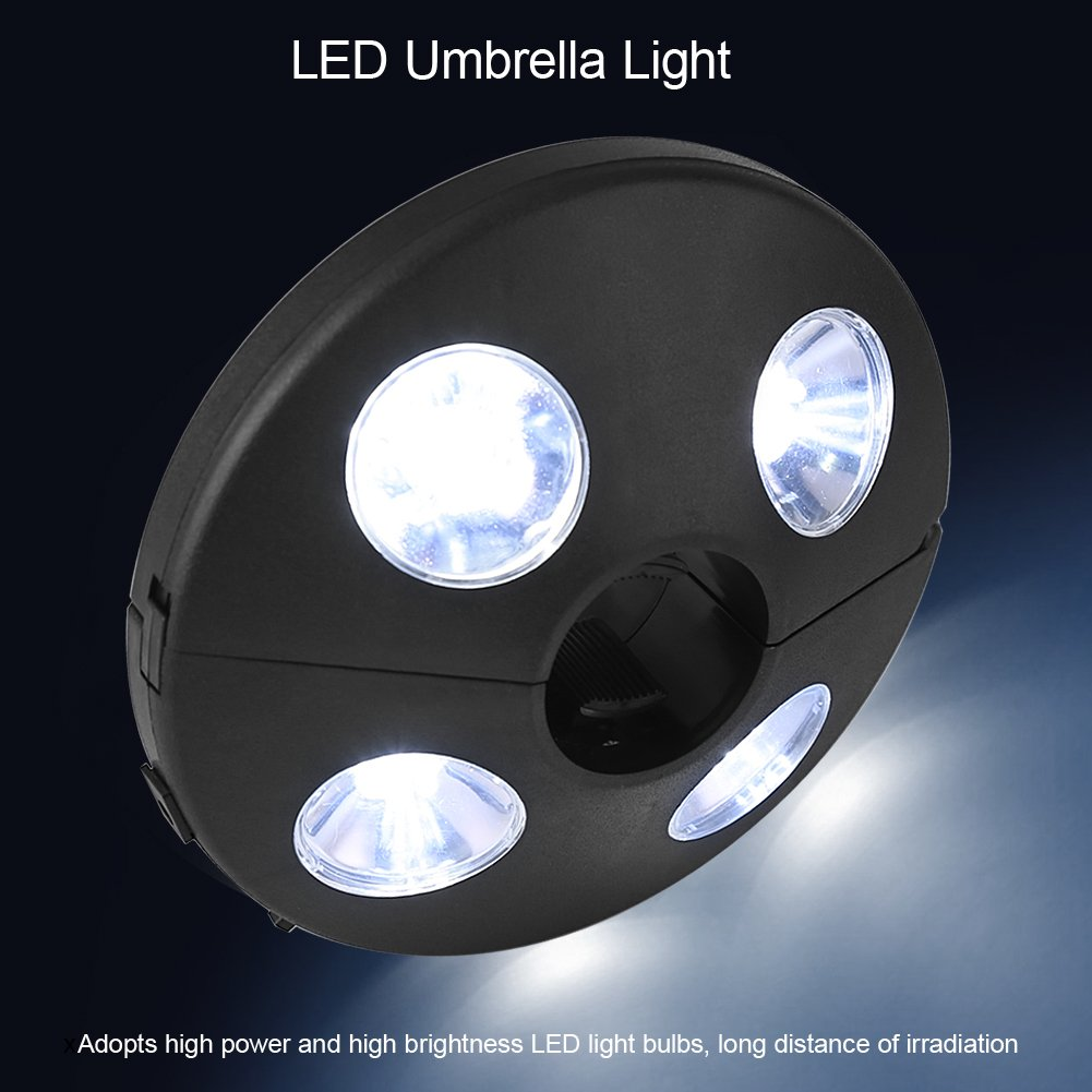 Yosooo Patio Umbrella Pole Light 24 LED Battery Operate Outdoor Night Lamp Camping Tent Pole Mounted or Hung Anywhere by Yosooo (Image #6)
