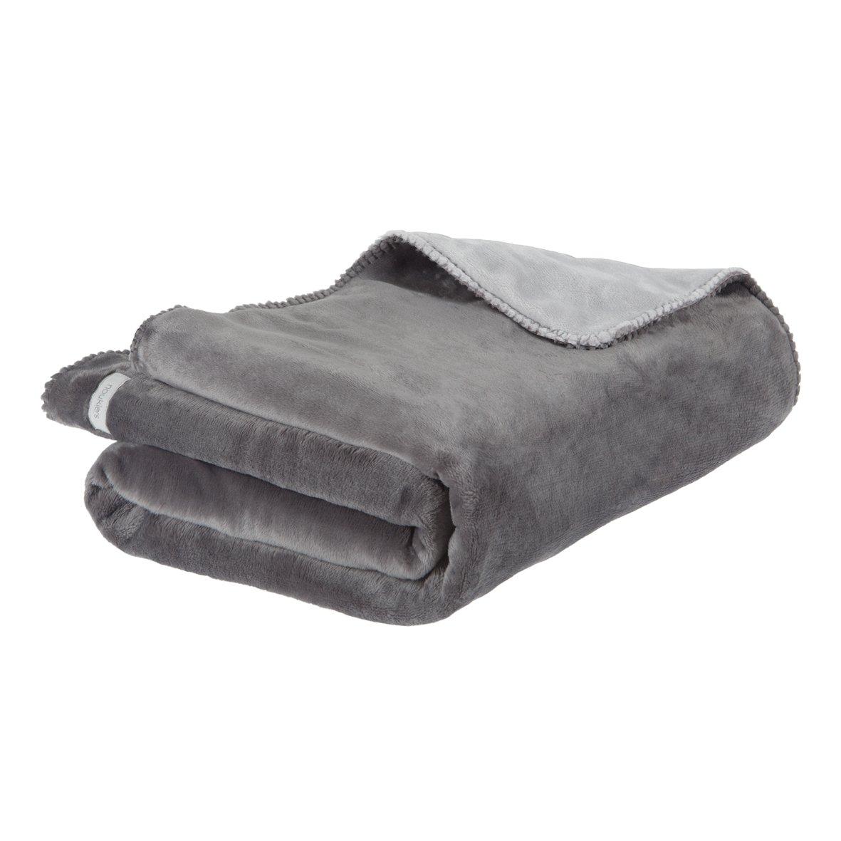 Noukies BB1410201 Decke groslx und klar, 100 x 140 cm, dunkel grau