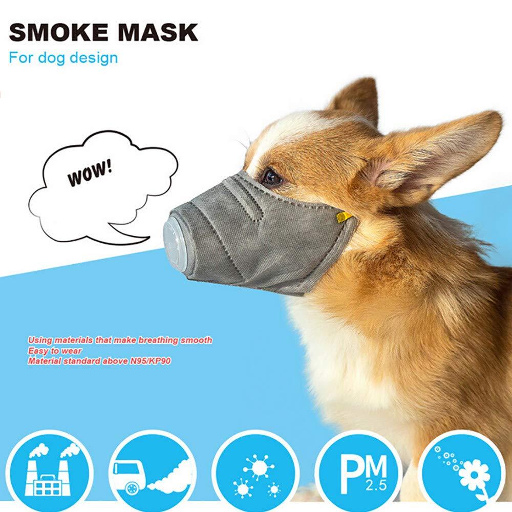 WensLTD Hot ! 3Pcs Dog Soft Cotton Mouth Mask Pet Respiratory PM2.5 Filter Anti Dust Masks (S, Gray) by WensLTD-Pet Supplies (Image #1)