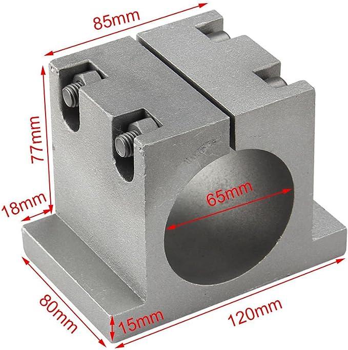 52 mm Abrazadera de Soporte de Montaje de Motor de husillo de Aluminio Fundido for m/áquina de Grabado CNC Hazmemejor Soporte de Motor de husillo