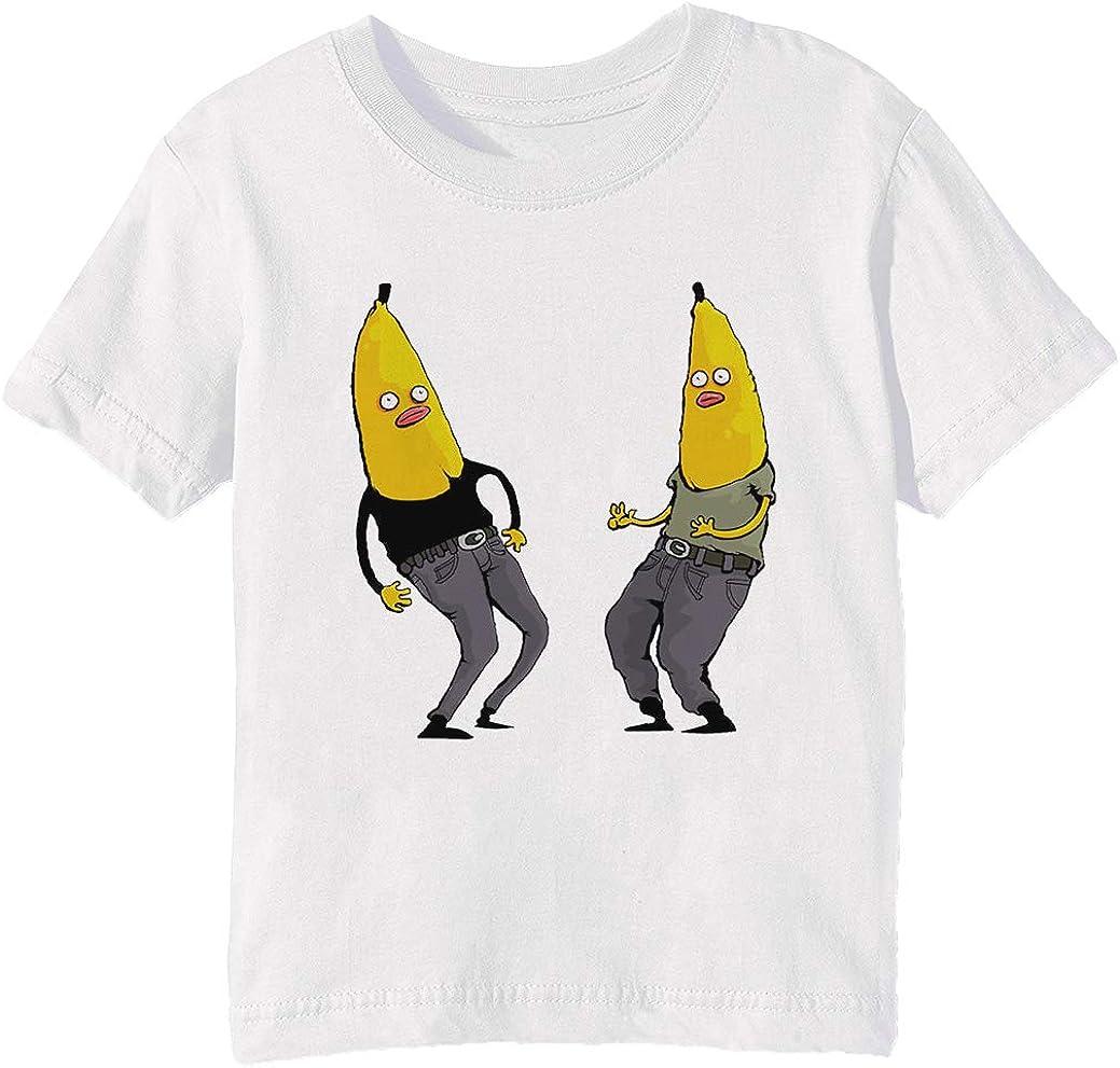plátanos en Regular Ropa Niños Unisexo Niño Niña Camiseta Cuello Redondo Blanco Manga Corta Tamaño 3XS Kids Boys Girls White XXX-Small Size 3XS: Amazon.es: Ropa y accesorios