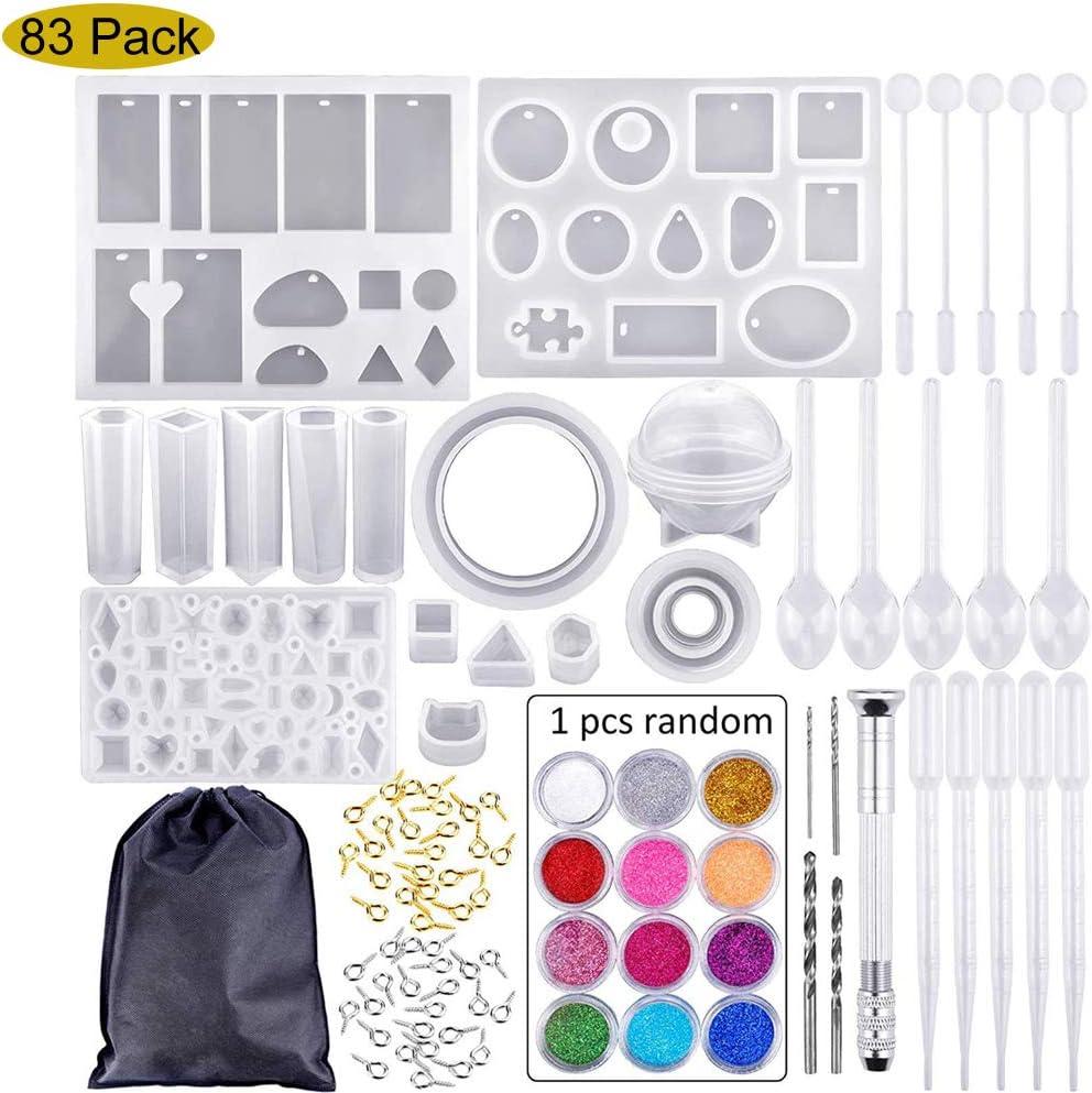 Mioloe Kit de moldes de fundición de resina, 83 piezas Molde de ...