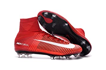 newest b58e5 80337 Yurmery Chaussures de football, Mercurial Superfly V FG, pour hommes -  Rouge - Red