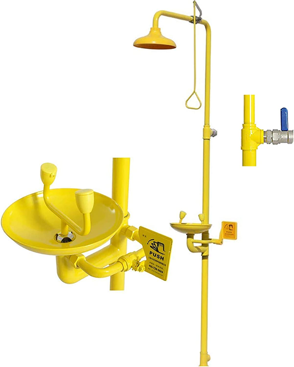 ABS Coating Carbon Steel CGOLDENWALL Combination Emergency Eyewash Shower Station Emergency Eye Wash Eyewash Station Emergency Shower System Eye and Face Wash Washer Station
