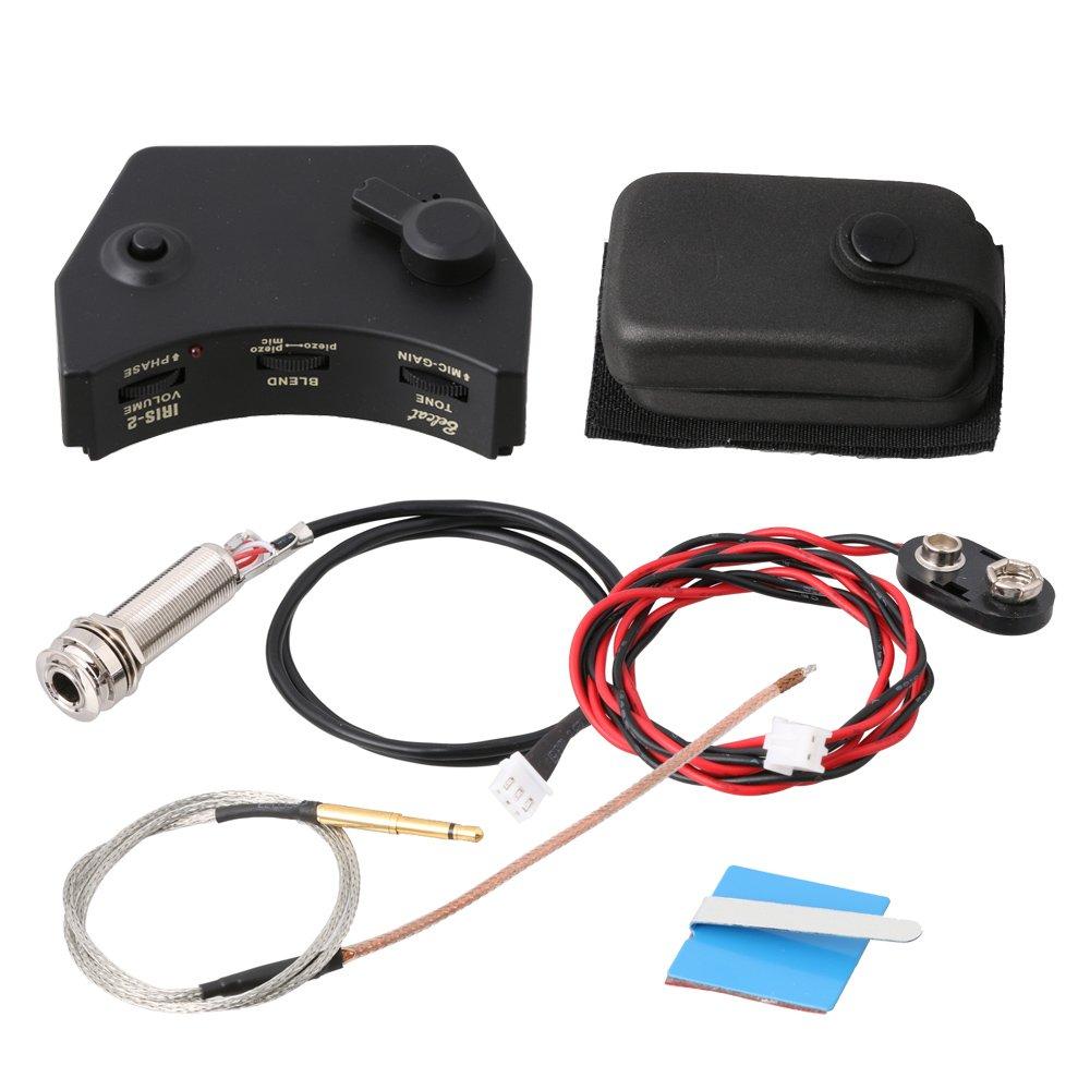 LYWS Belcat IRIS-2 Sound Hole Control Preamp Guitar Pickup Piezo Pickup System for Acoustic Folk Guitar