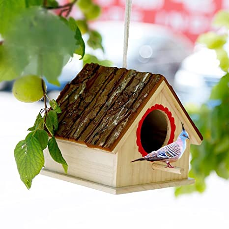 Nice Pies Birds Nest Box Hanging Bird Box For Outdoor Decoration Garden  Birdhouses Pet Supply