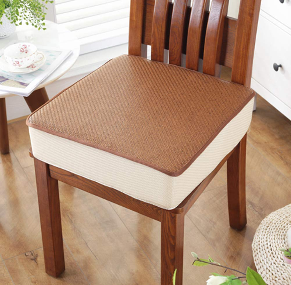 DADAO Chair Cushion Dining Chair Outdoor,Square Bamboo mat Thickening Sponge - 5cm-D 2020in