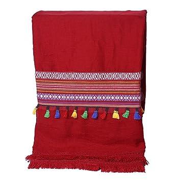 Echarpes Echarpes et foulards Été écharpe de soie sauvage bord de mer longue  crème solaire 7e79d89d193