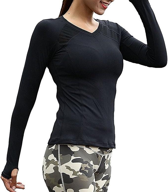 TALLA L. Azornic - Camiseta de Manga Larga de Secado rápido para Mujer y Mujer