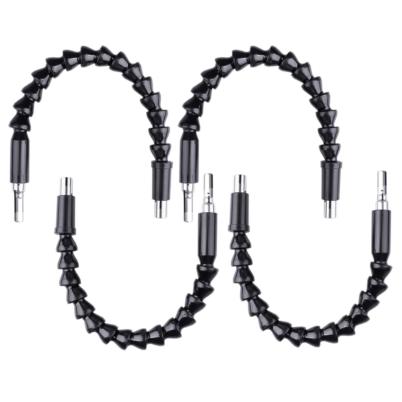 4PCS 30CM Length Flexible Power Screwdriver Drill Bit Extension Hex Shaft,Magnetic Quick Change Connect Hex Drive Tip (NC08-US)