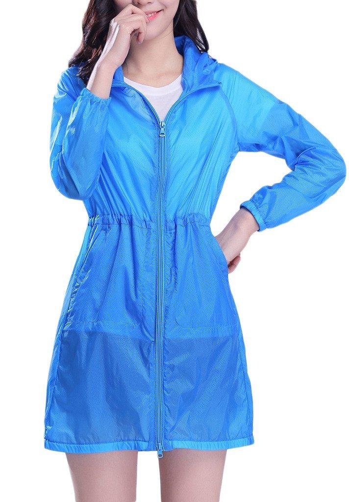 Akaeys Protect Jacket for Ladies Lightweight Windbreaker UV Protect Coat