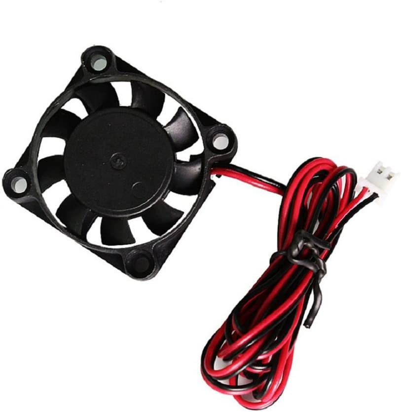 40mm x 40mm x 10mm Ball Bearing Cooling Fan with 2 Pin Terminal for Hotend Extruder Heatsinks Makerbot MK7 MK8 4X 3D Printer Cooling Fan