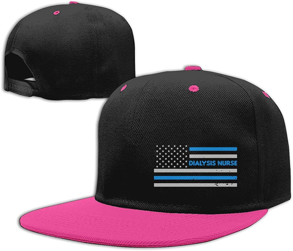 NMG-01 Women Men Plain Cap Dialysis Nurse American Flag Printed Hip Hop Baseball Caps