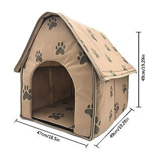 iShinê Casa de Mascotas Desmontable y Plegable de Huella pequeña