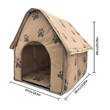 iShinê Casa de Mascotas Desmontable y Plegable de Huella pequeña: Amazon.es: Productos para mascotas