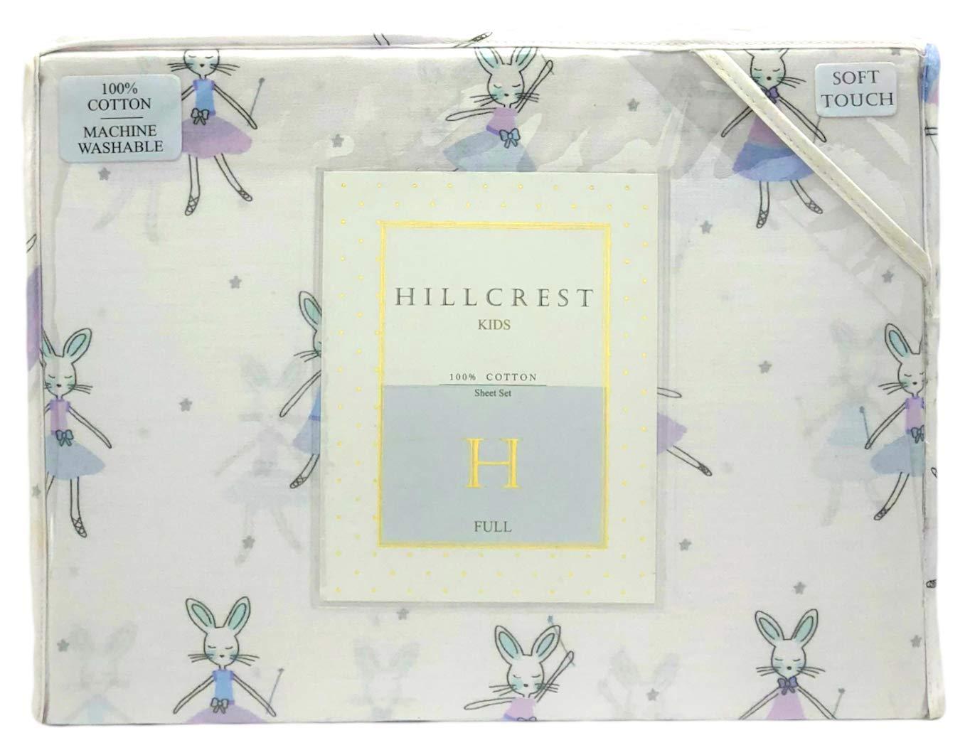 Hillcrest キッズ バレリーナ バニー コットン フルサイズ シーツセット B07GNVL15N