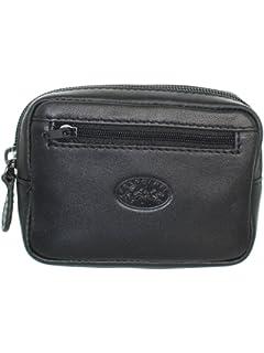 Francinel [L8426] - Pochette ceinture cuir 'Lafayette' noir (12x9x3 cm)