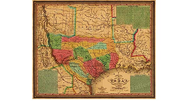 Amazon.com: Magnet 1835 Texas, Indian Territory & Mexican States Map Wall Map Magnet Vinyl Magnetic Sheet for Lockers, Cars, Signs, Refrigerator 5