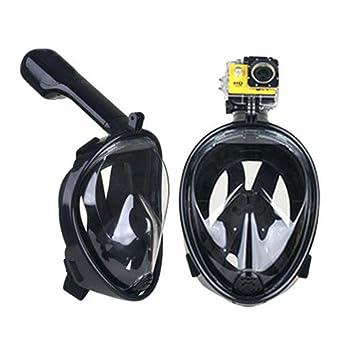 Máscara de buceo máscara de snorkel, Vemupohal 180 ° de la cara llena vistas panorámicas