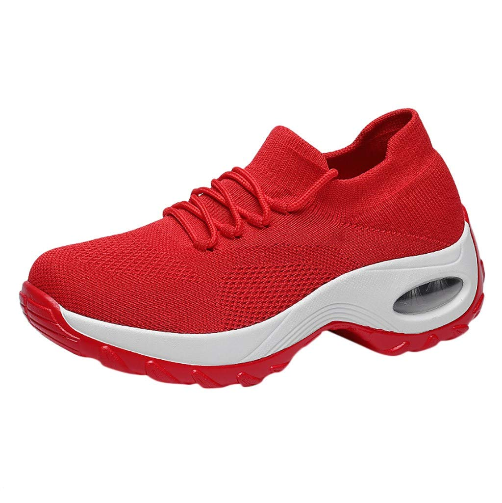 Peize Boys Girls Sneakers Child Kids Fashion Sneakers Ultra Lightweight Breathable Athletic Running Walking Casual Shoes Red