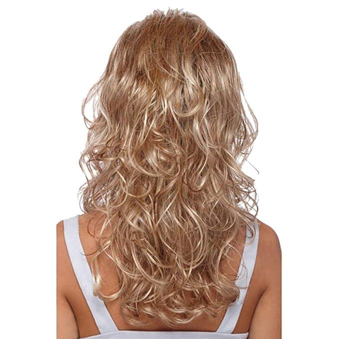 Mypace - Peluca de pelo largo liso para hombres y mujeres, pelo ...