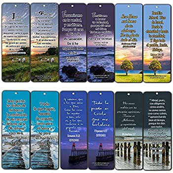 Spanish Powerful Bible Verses to Live by Bookmarks (RVR1960) (60-Pack) - Perfect Gift Idea for Friends and Loved Ones