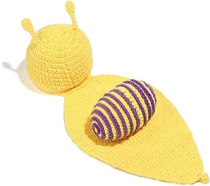 Yissma - Disfraz de Caracol Amarillo para recién Nacidos y niñas ...