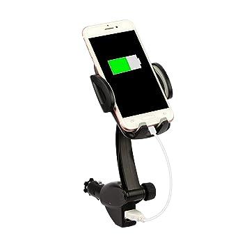 Moclever Soporte de teléfono Celular para Coche, Universal 2 en 1, Encendedor de Cigarrillos, teléfono móvil, Cargador Dual USB, Soporte de Coche ...
