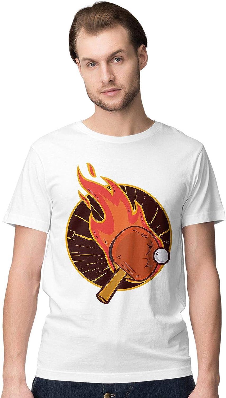 BLAK TEE Hombre Table Tennis aka Ping Pong Camiseta