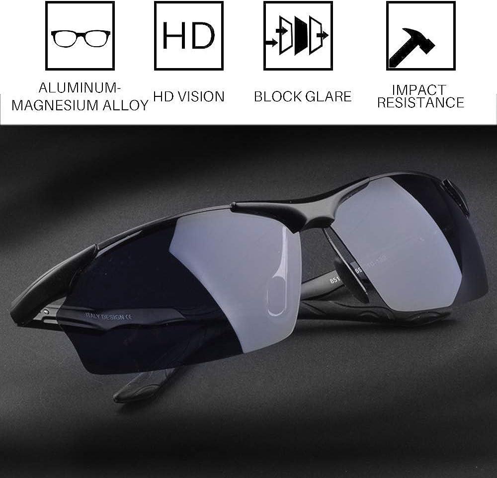 New Polarized UV400 Black Lens Sport Sunglasses Driving Goggle Glasses #1Bk