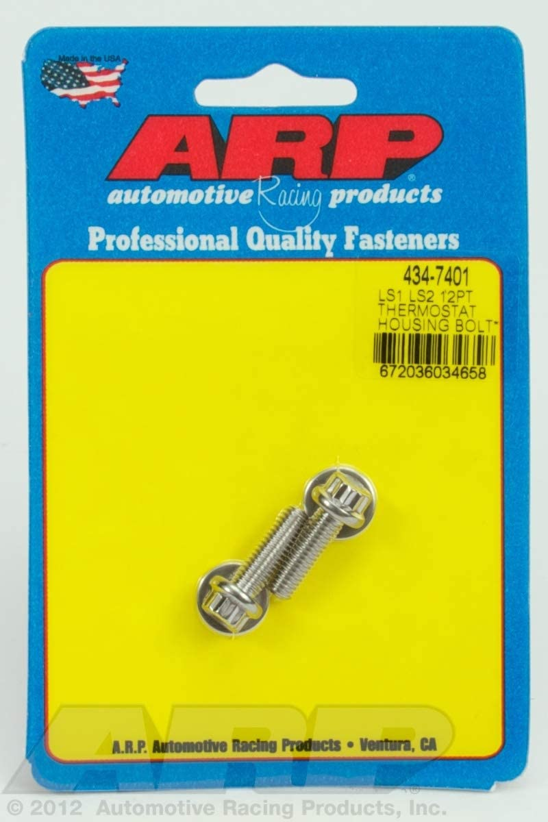 ARP 450-7401 12-Point Stainless Steel Thermostat Housing Bolt Kit