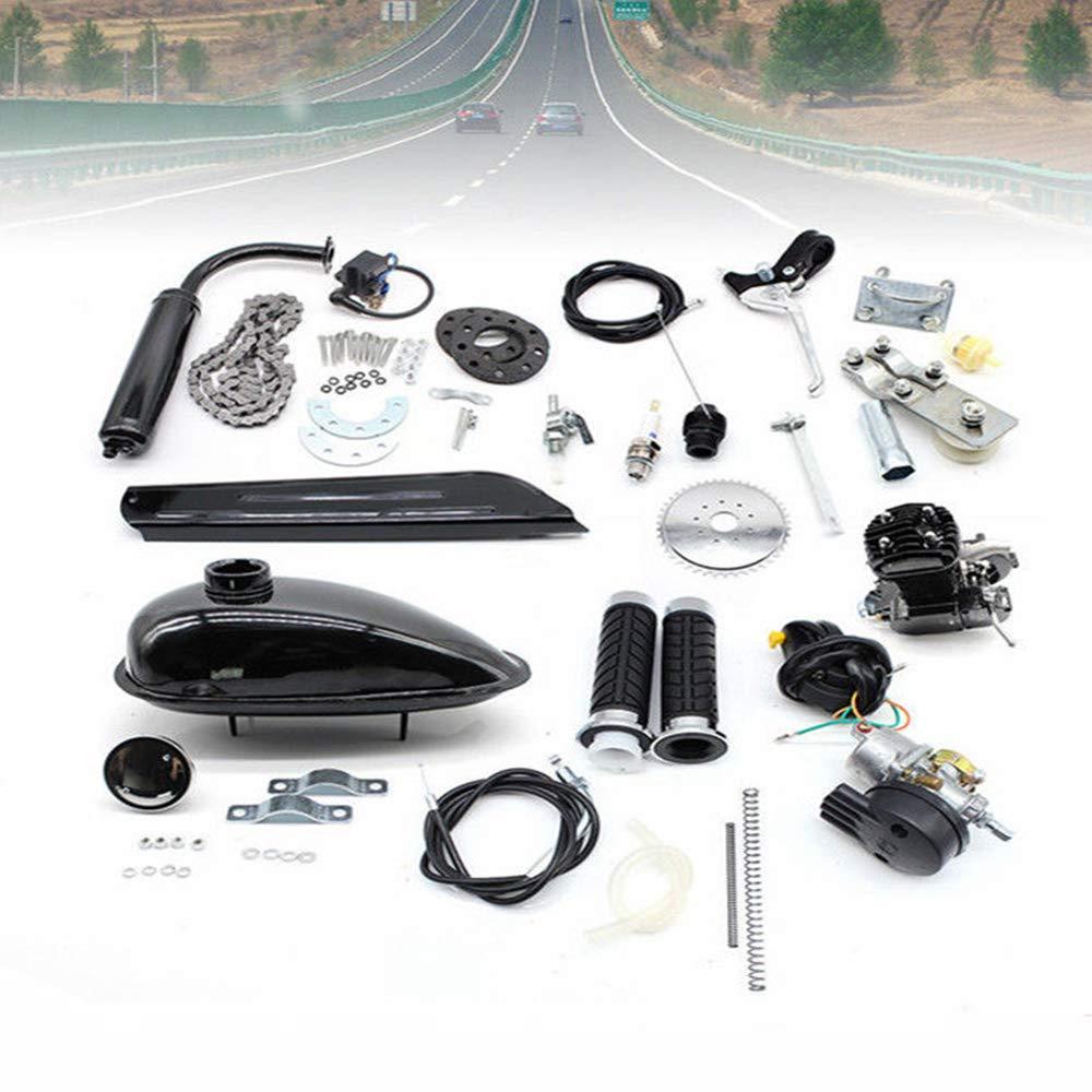 TFCFL 80cc 2 Stroke Motorized Bicycle Petrol Gas Motor Engine Kit Set Air Cooling IY Motorized Bike Single Cylinder Air-Cooled