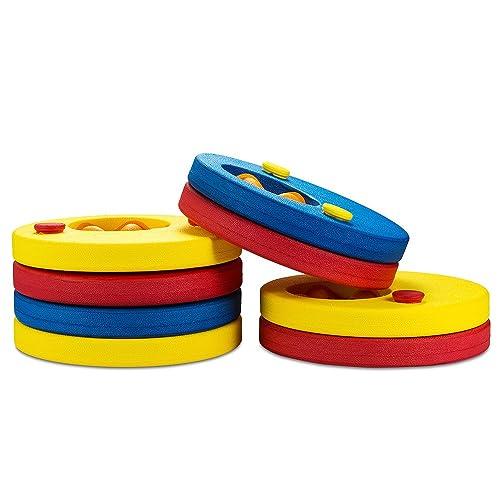 SKYSPER Kids Swim Float Discs Foam Swim Arm Bands(Set of 8)