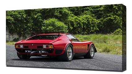 Amazon Com Lilarama Usa 1968 Lamborghini Miura Jota Svr V3 Canvas