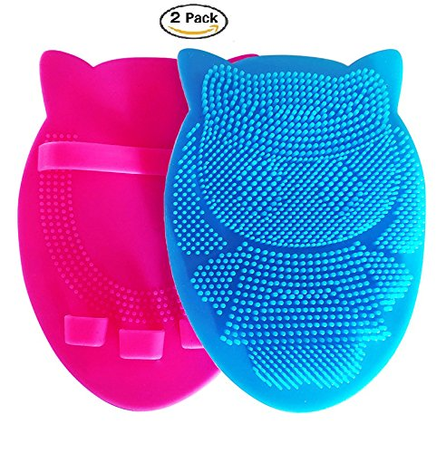 Soft Silicone Shower Brush Body Wash Bath Shower Glove Exfoliating Skin SPA Massage Scrubber Cleanser, for sensitive and all kind of skins(pack of 2) from CHAREADA