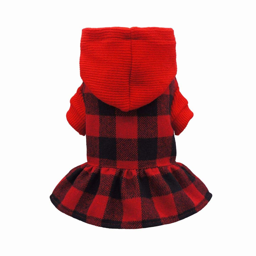 Plaid hoodie dress