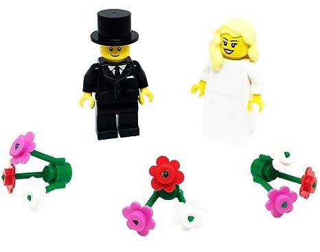 Lego sposa con capelli biondi e sposo con fiori  Amazon.it  Giochi e ... 31e24067432a