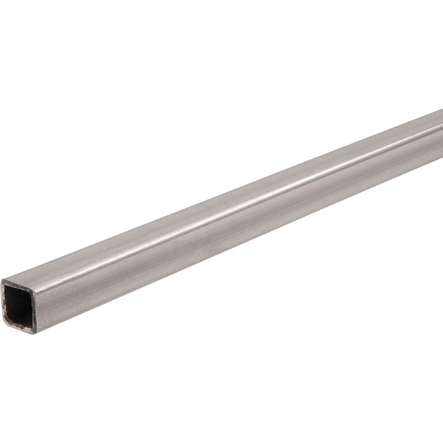 Unpolished (Mill) 1008-1010 Steel Square Tube, 1'' Height, 0.083'' Wall Thickness, 8' Length by Small Parts