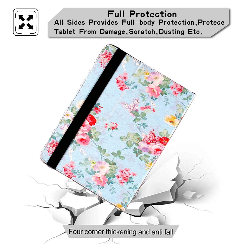 Fits All 2012,2013,2015 and 2018 Versions FINDING CASE for  Kindle Paperwhite 1//2//3//4 Gen,Leather PU Flip Folio Cover for  Kindle Paperwhite e-reader Blue Flame and Flower