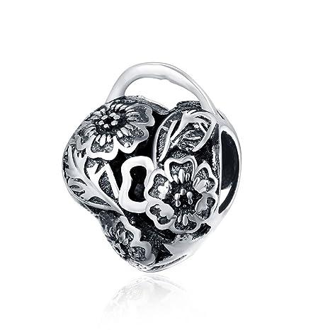 93d382fb5495 Plata de Ley 925 HMILYDYK joyas nuevo estilo forma de corazón flor charms  Beads Fit Pandora