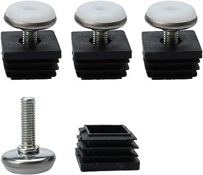Sourcingmap – Patas de nivelación 25 x 25 mm, kit de inserciones ...