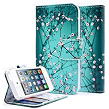 NageBee iPhone 4 Case, iPhone 4S Case, Design Dual-Use Flip Premium PU Leather Fold Wallet Pouch Case for Apple iPhone 4/4S